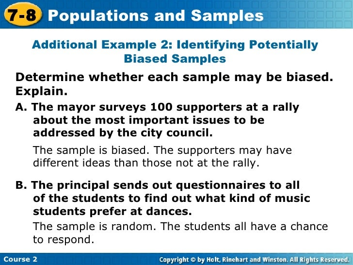 Sample and population