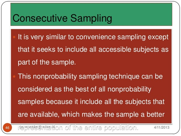 Sample and sampling techniques