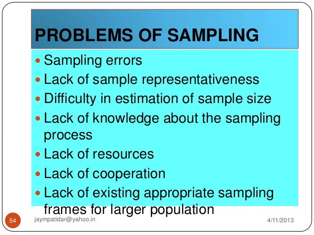 sampling techniques Probability sampling techniques in probability sampling, the sample is selected in such a way that each unit within the population or universe has a known chance of being selected it is this concept of known chance that allows for the statistical projection of characteristics based on the sample to the population.