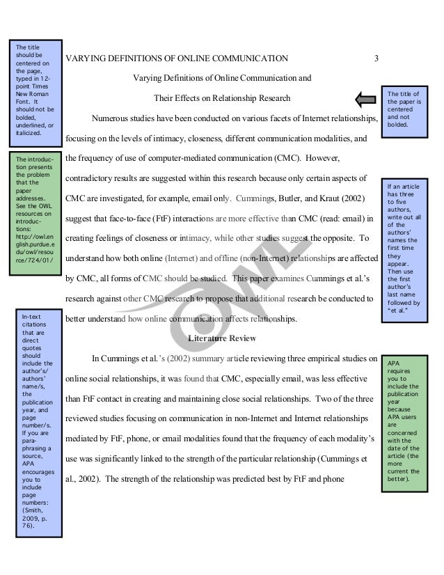 online writing lab literature review