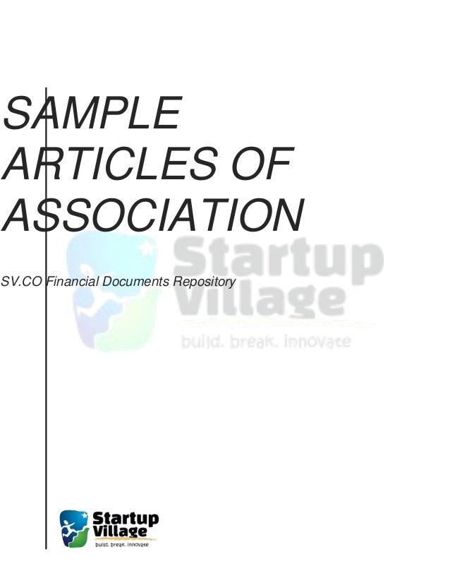 the model articles of association