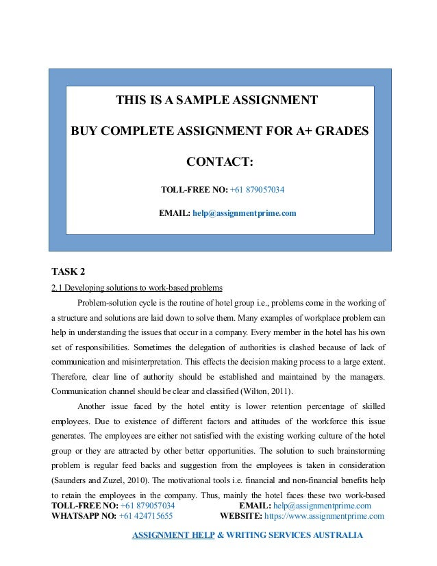 Sample Assignment on Employability Skills - Assignment Prime Australia