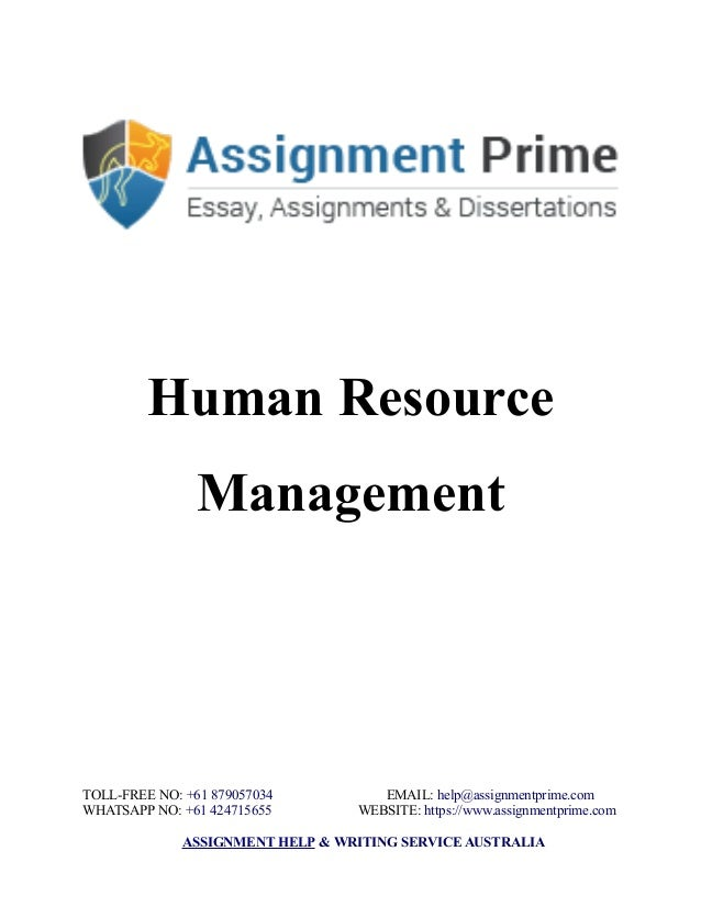 Sample Assignment On Human Resource Management