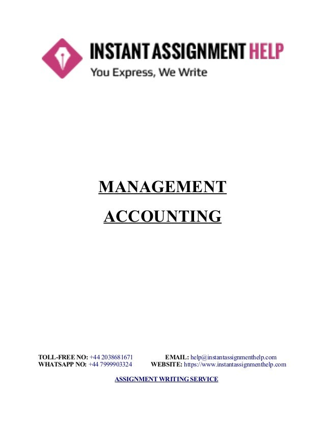 Sample Assignment On Management Accounting  Instant Assignment Help