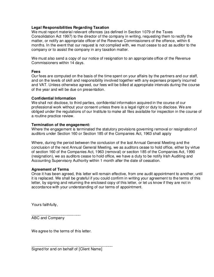 SlideShare  Letter Of Engagement Template Free