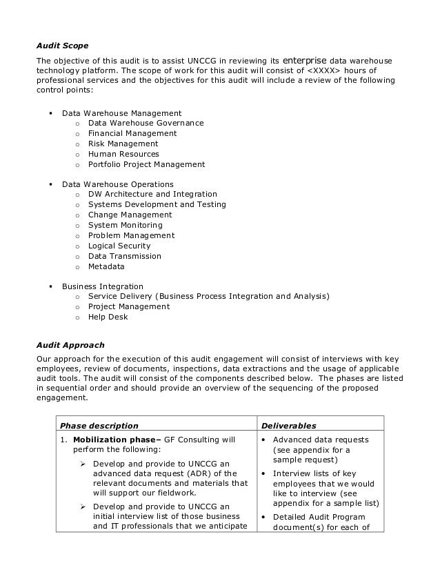 Generous it audit plan template photos resume ideas for Internal audit scope template