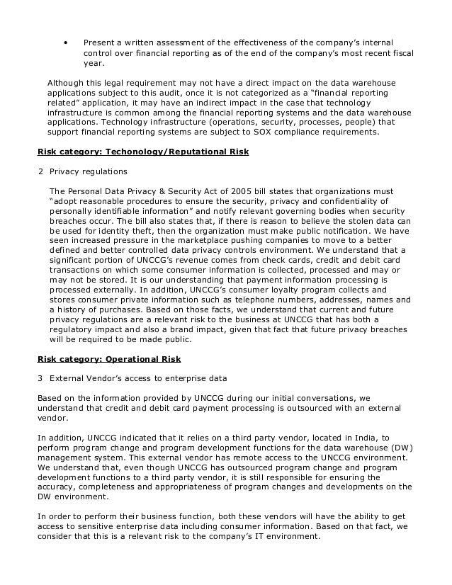 Sample audit plan – Sample Internal Audit Report Template