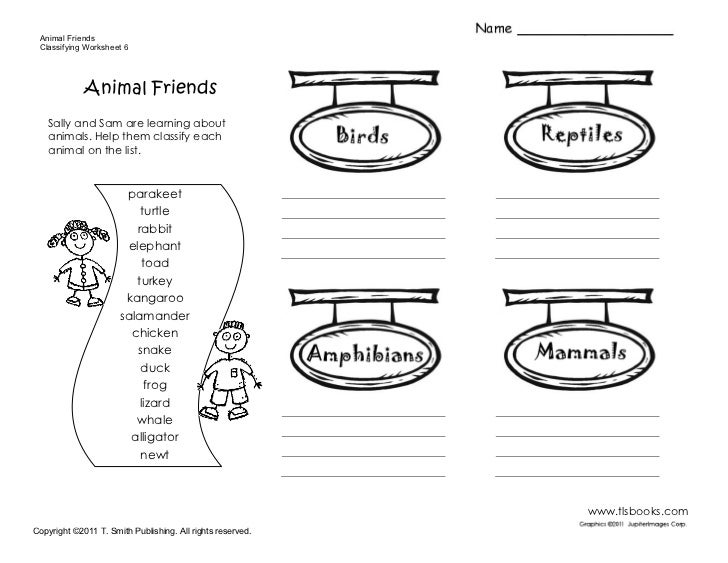 sample worksheet – Vertebrate Worksheet