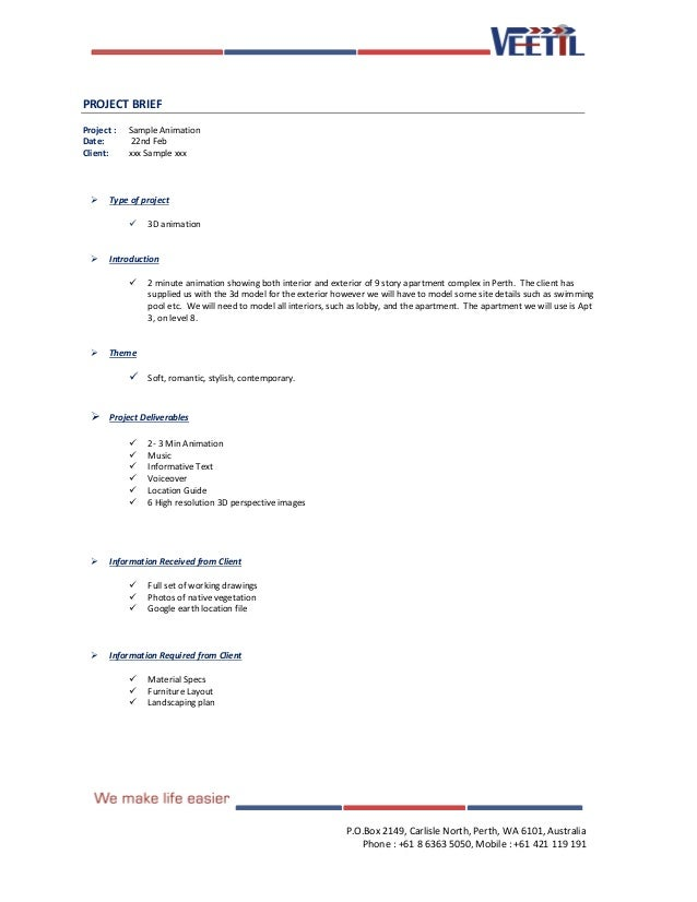 Doc585615 Project Brief Template Sample Project Brief – Project Brief Template