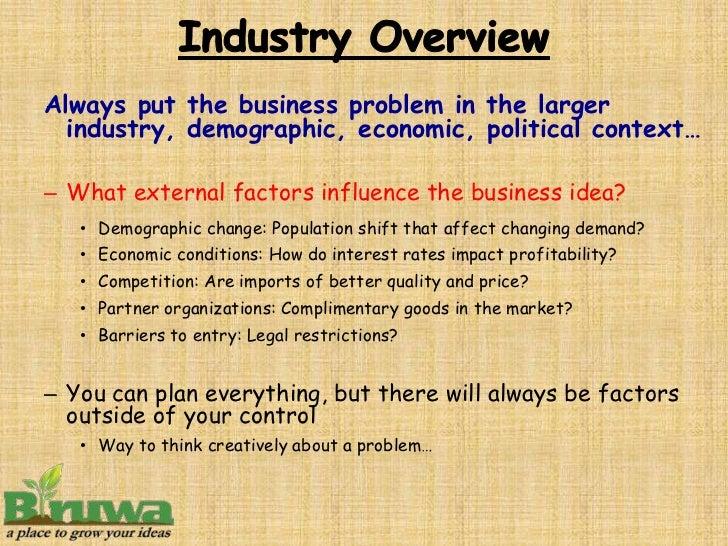 Uncontrollable factors that affect business planning