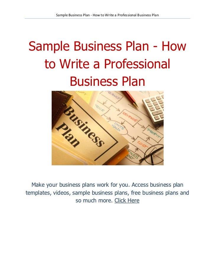 Business plans for sales professionals