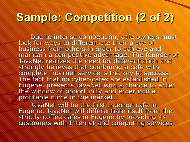 Example Of An Internet Cafe Business Plan Critique Laughter