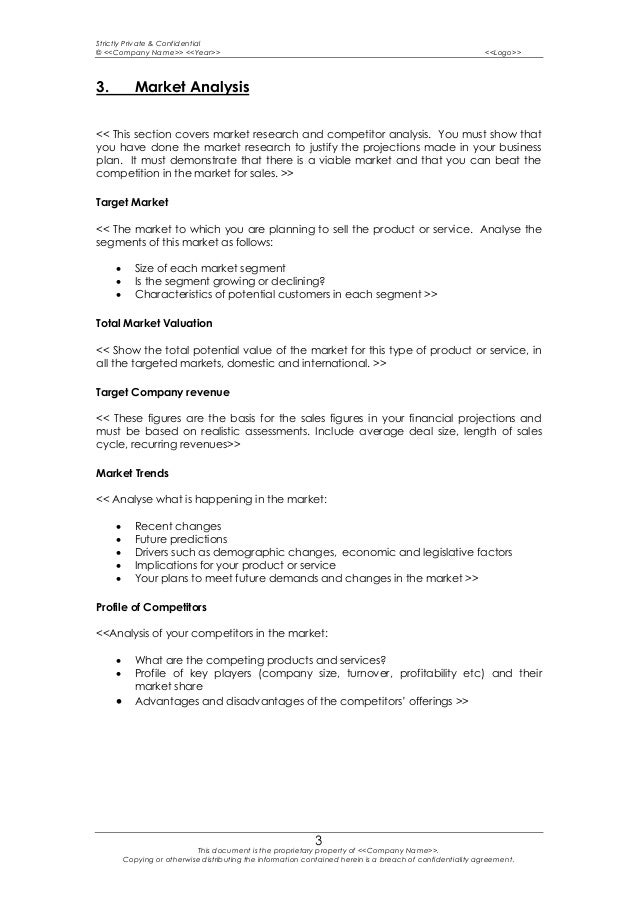 Business plan template 6 accmission Gallery