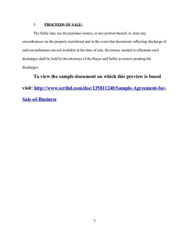Sample Purchase Agreement For Business 31 Sample Agreement – Sample Purchase Agreement for Business