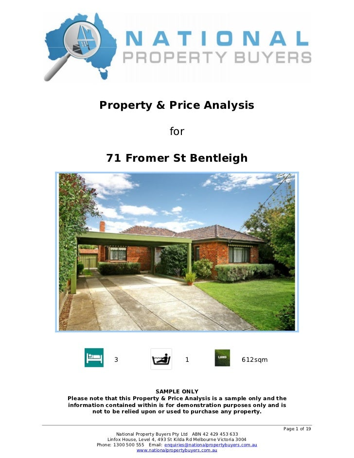 Property & Price Analysis                                      for            71 Fromer St Bentleigh                3     ...