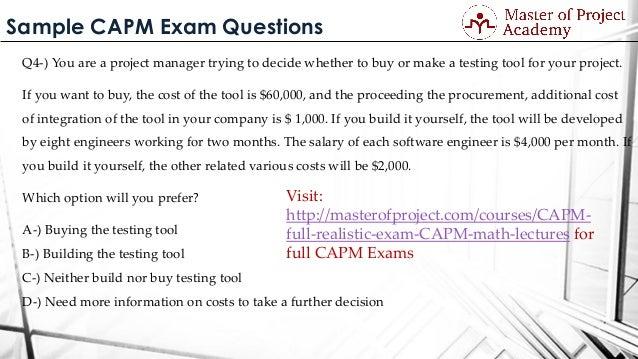 Sample Capm Exam Questions
