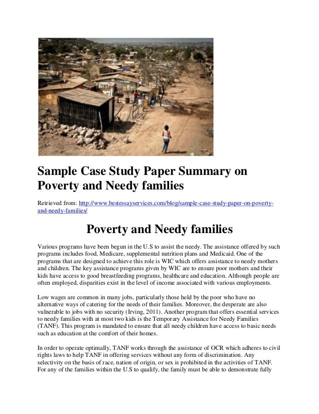 Paper on poverty