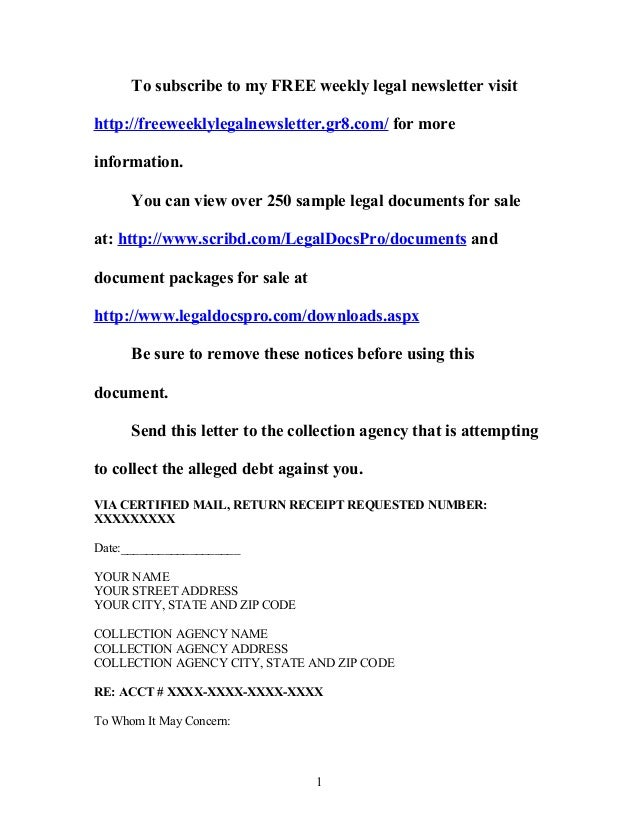 Cease And Desist Letter Template For Debt Collectors Frodofullring