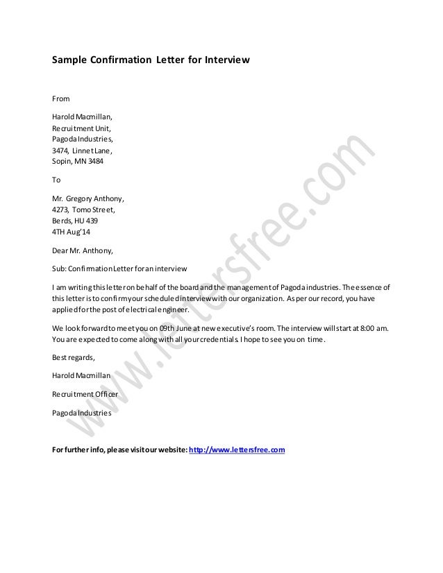 Sample Letter Of Cancellation Of Interview