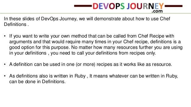 Sample Cookbook To Demonstrate Chef Definitions   Ishant Kumar; 2.