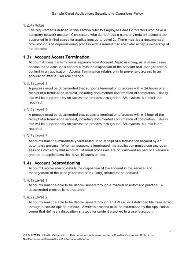 Security Policy Sample Security Policy Manual Template Sample