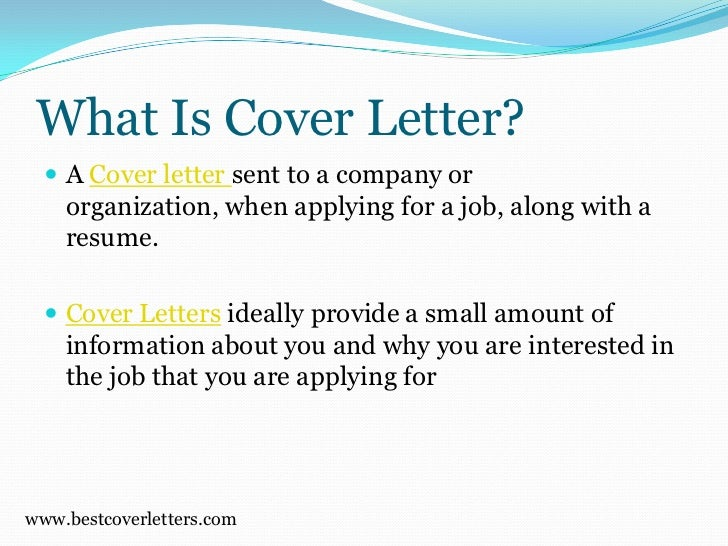 what is cover letter - What Is Cover Letters