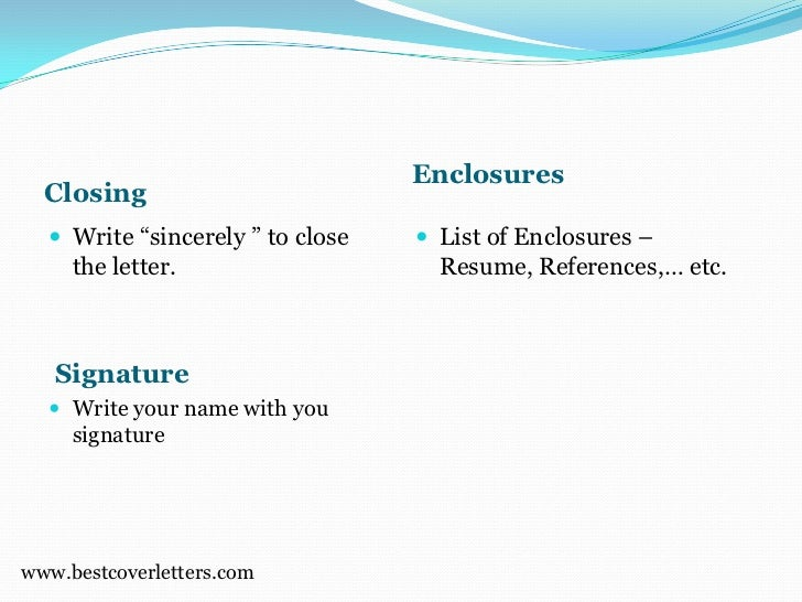 enclosures - What Is An Enclosure On A Cover Letter