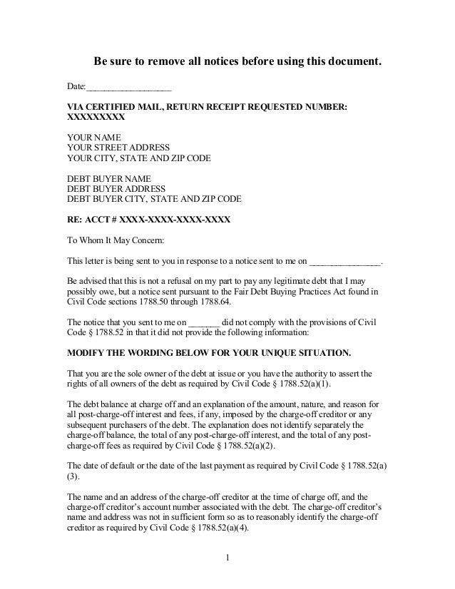 Sample demand letter to debt buyer in california sample demand letter to debt buyer in california be sure to remove all notices before using this document date spiritdancerdesigns