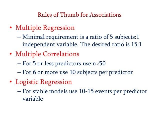 Rule of thumb multiple
