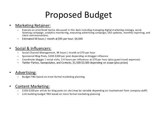 digital advertising proposal