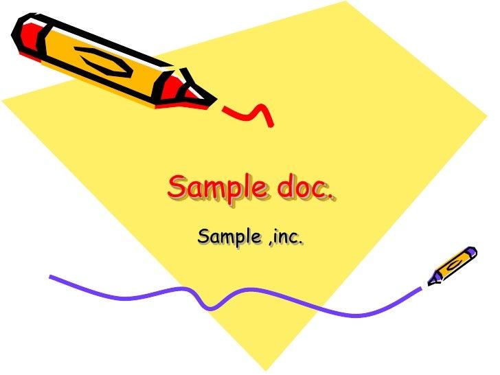Sample doc.  Sample ,inc.