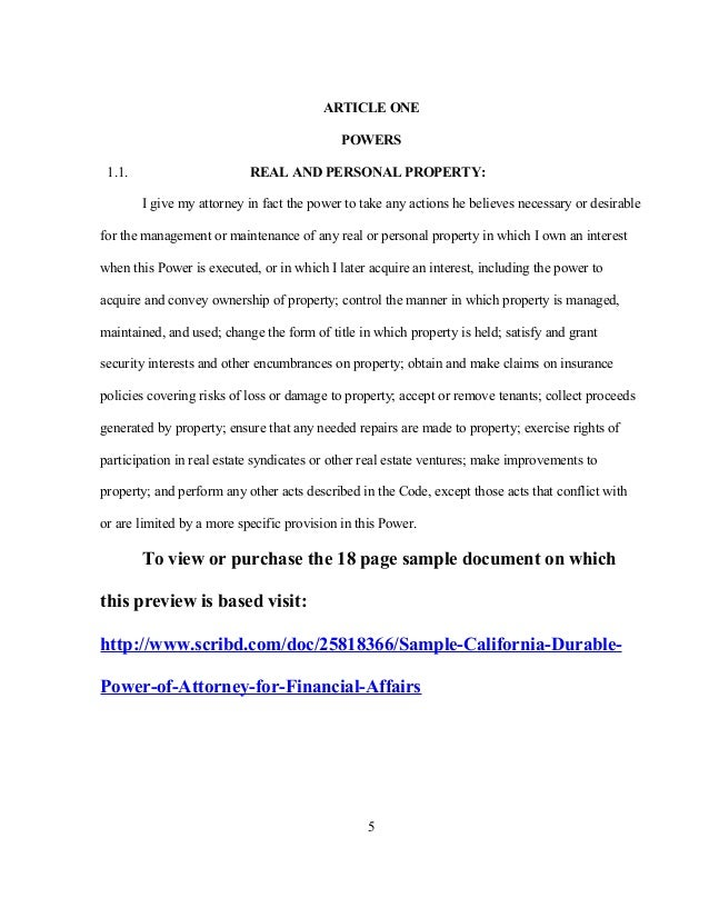 Property Management Power Of Attorney Form Mersnoforum