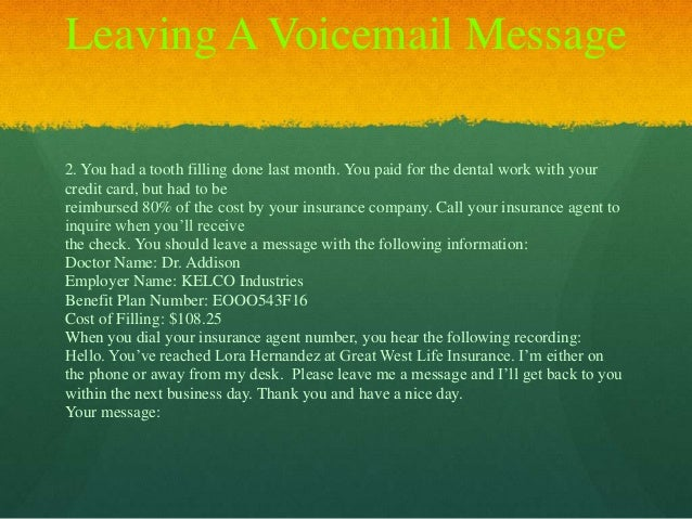 Dental office voicemail greeting voicemail message template sample voicemail message template sample esl lesson henson 2013 m4hsunfo