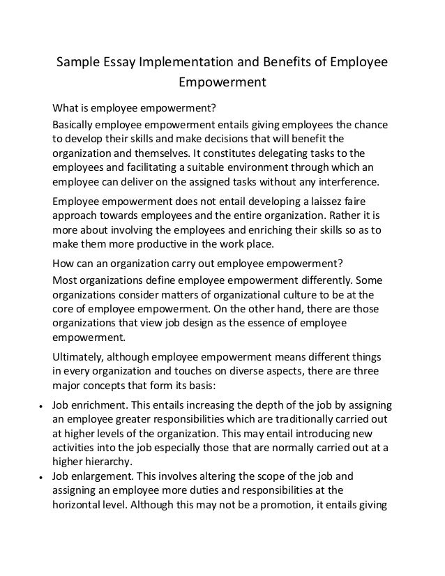 Employee benefits essay