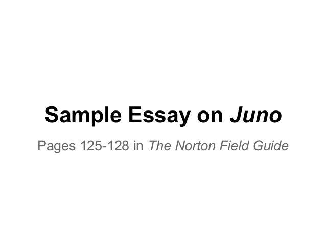 sample essay juno sample essay on junopages 125 128 in the norton field guide