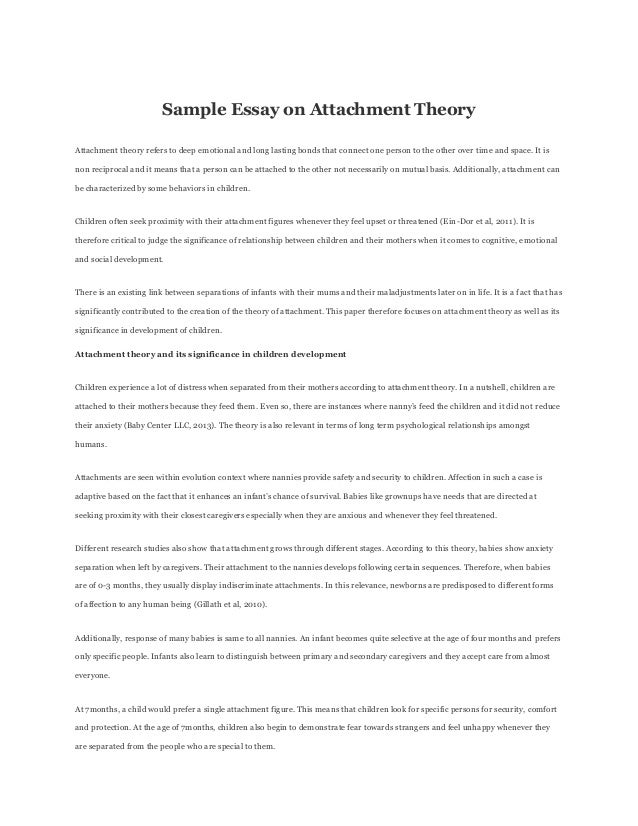 Attachment theory paper