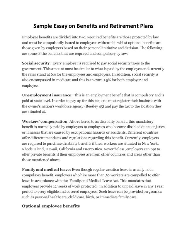research paper on employee benefits