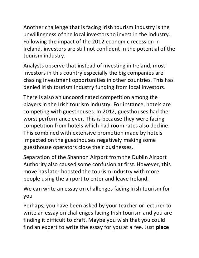 Tourism industry essay