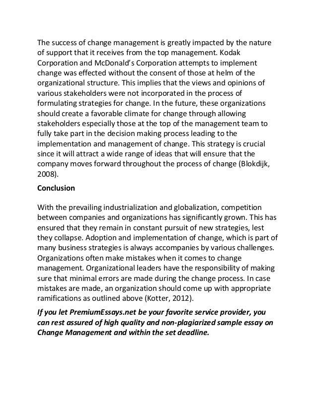organizational change research paper