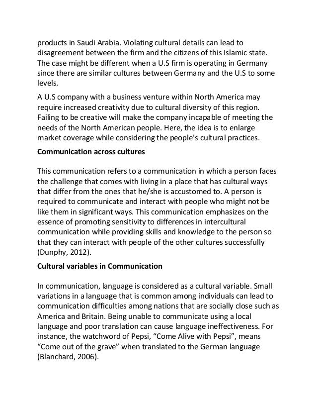 cross cultural management conclusion