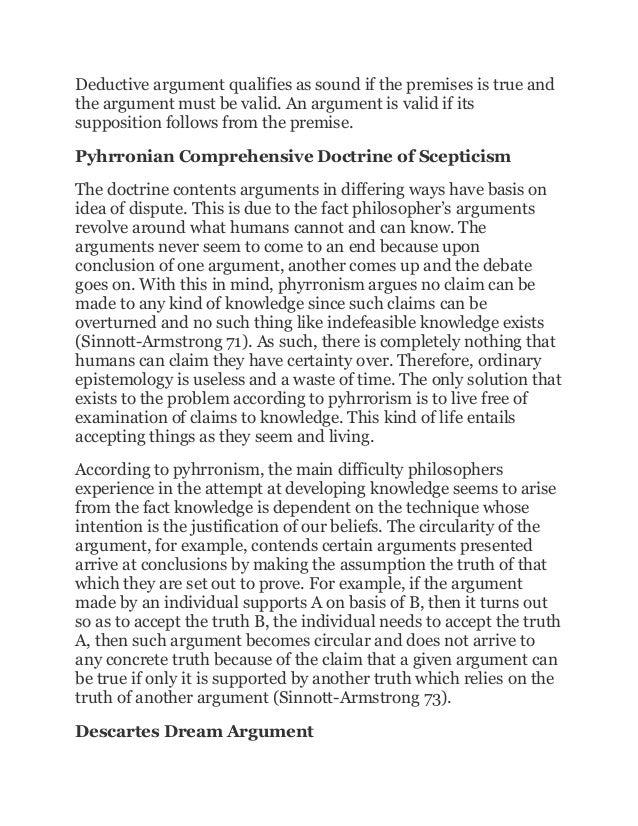 Sample essay on deductive argument
