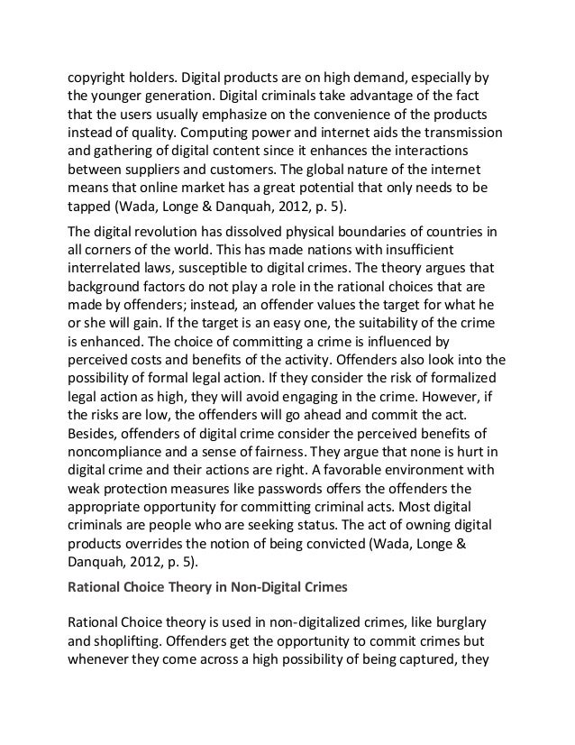 sample essay on digital crime