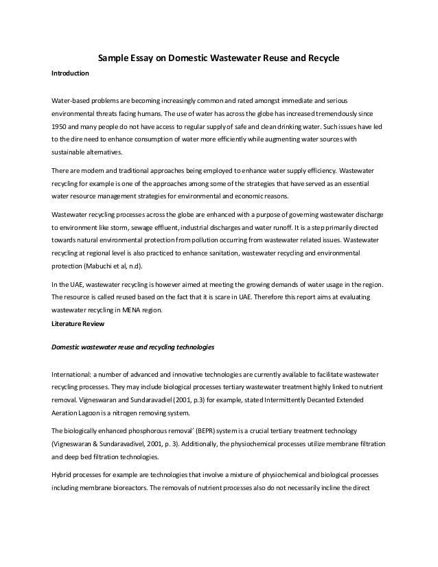 Essay On Waste Water Treatment Phoenix Focus