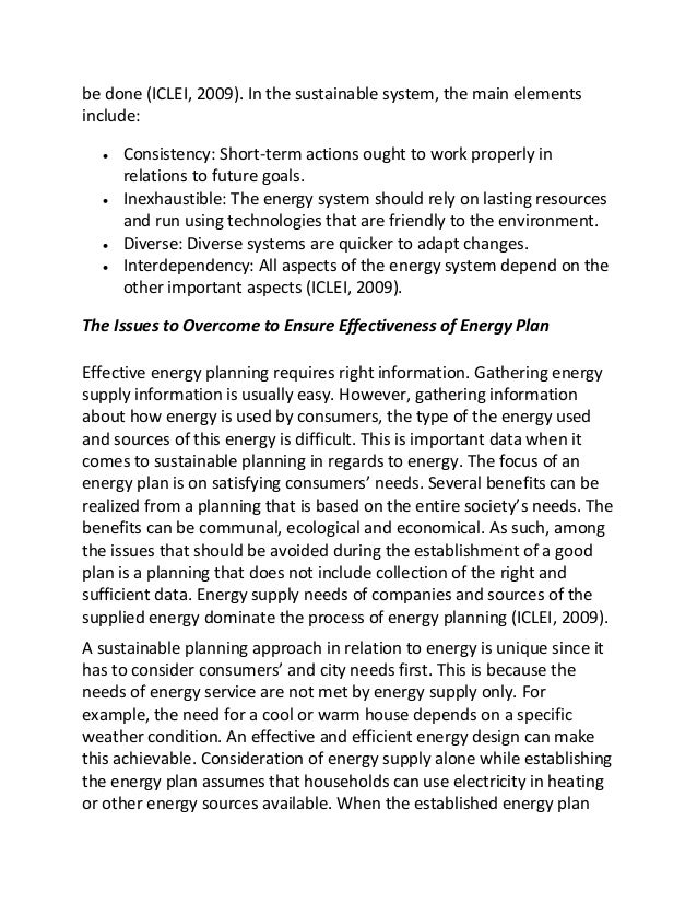 sample essay on energy planning  3 be