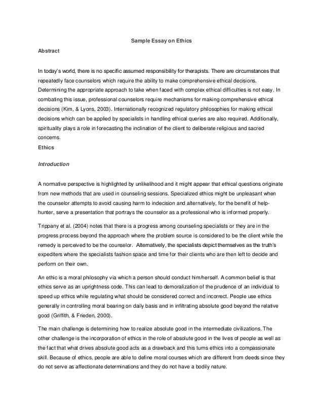 ethics and morality in philosophy essay Philosophy essays: virtue ethics virtue ethics this essay virtue ethics and other method of judging the morality of an action in each.