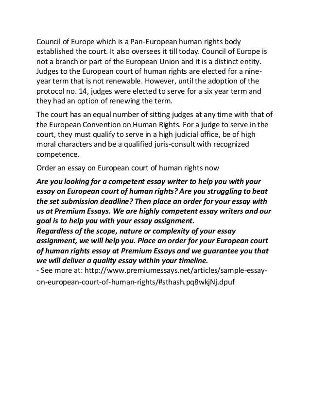 sample essay on european court of human rights 2