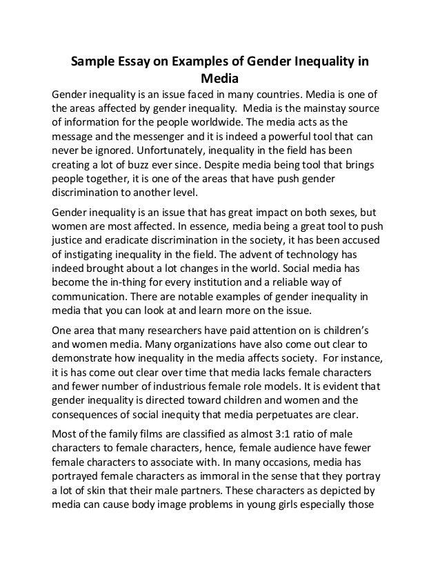 Gender in media essay