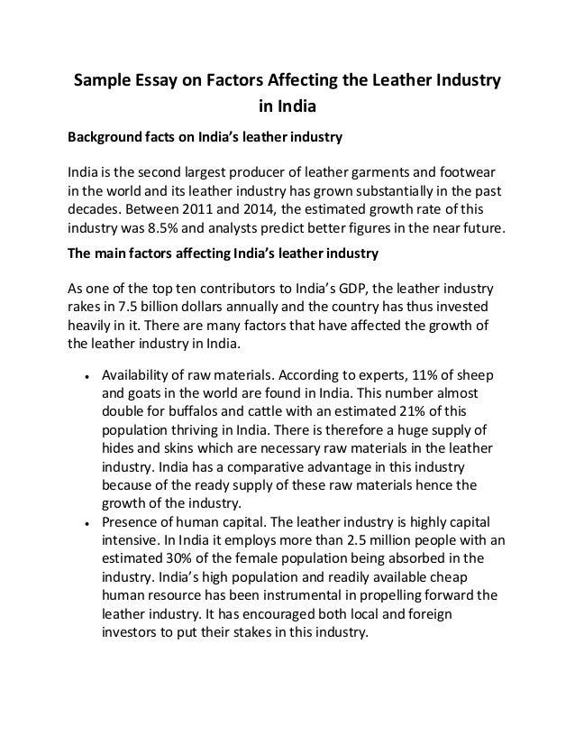 essay on industry