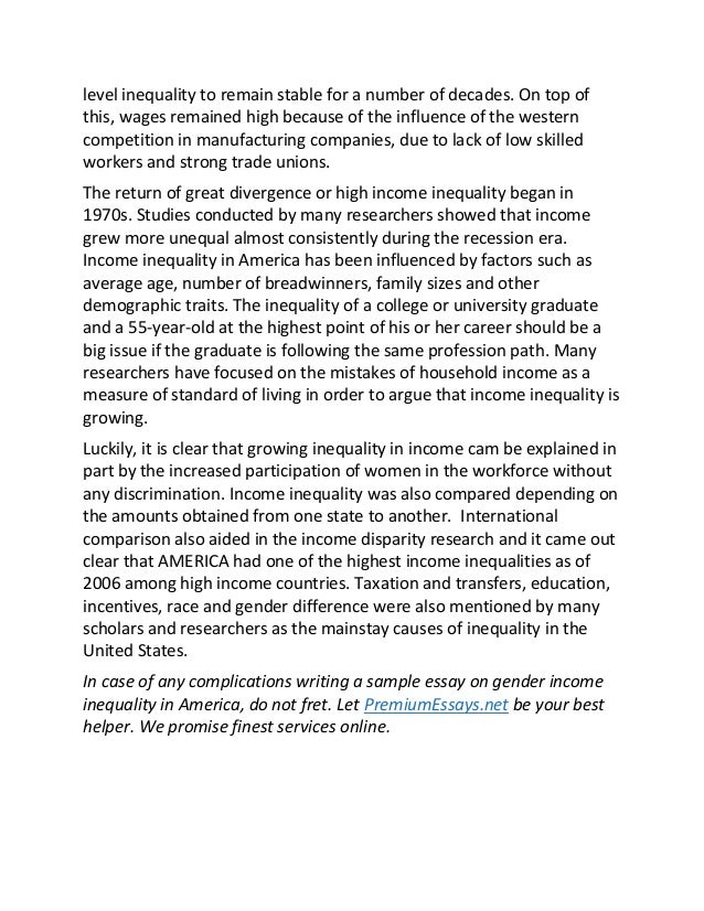 inequality wealth and income essay Title of dissertation: essays on inequality, social mobility  by looking  at the effect of one's income relative to some reference group on self-reported life   inequalities in wealth, arguably a salient dimension for purposes of social.