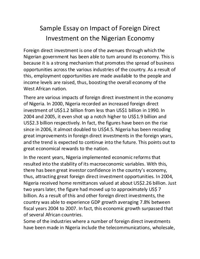 economics essays nigerian government economy Essays economic development  in the growth nd development of the nigerian economy the role of small and medium scale enterprises in facilitating the economic .